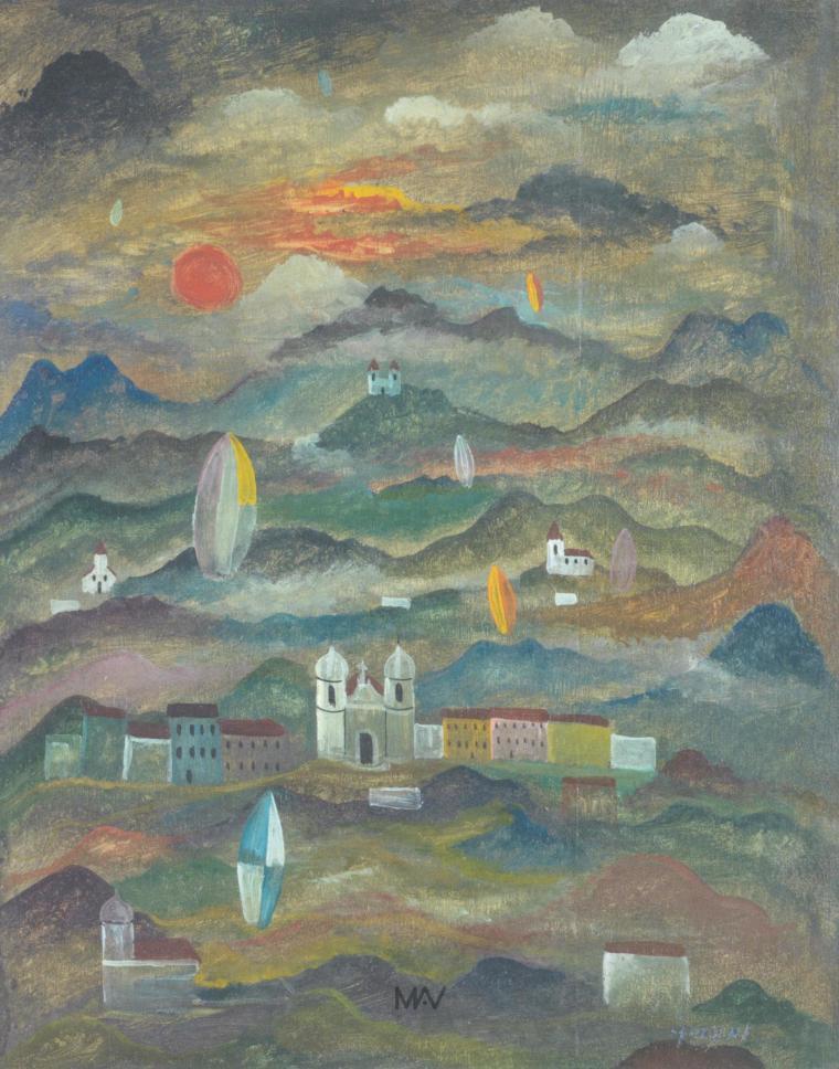 alberto-da-veiga-guignard-paisagem-imaginaria-1950-oleo-sobre-madeira