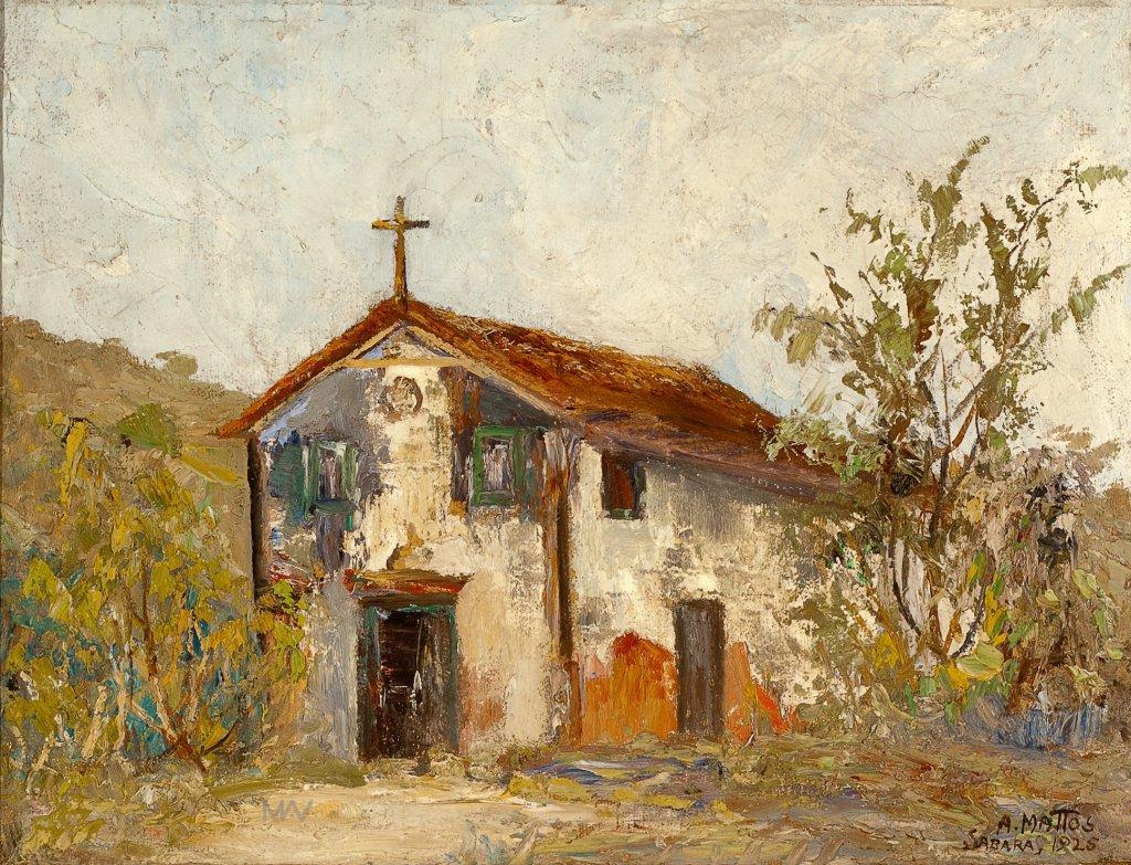anibal-mattos-antiga-capela-de-sabara-1925-52-x-626-cm-museu-mineiro