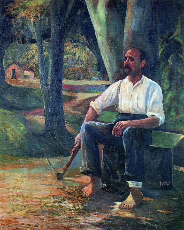 anibal-mattos-o-jardineiro-descanso-do-colono-1915-oleo-sobre-tela-colecao-particular